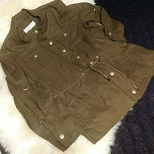 Olive and gold lightweight jacket sz ps nice!